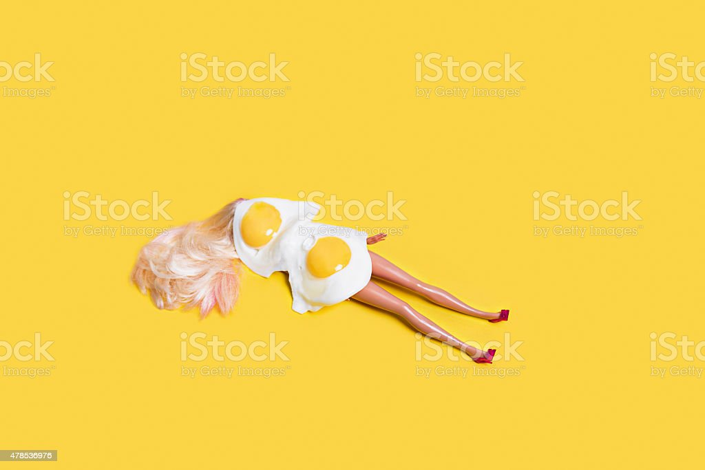 Concept for sunbathe stock photo