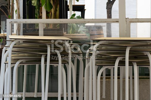 1213432934 istock photo Concept for tourism crisis, economic crisis, restaurant closed, no people during covid shut down. 1222914970
