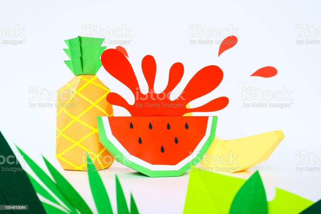 Concept fruit juice, element reklama. Splash from watermelon stock photo