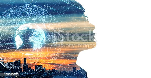 872670560istockphoto AI (Artificial Intelligence) concept. Global communication network. 1185010350
