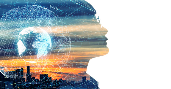 872670560 istock photo AI (Artificial Intelligence) concept. Global communication network. 1185010350