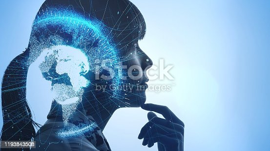 672310452istockphoto AI (Artificial Intelligence) concept. Global communication network. 1193843508