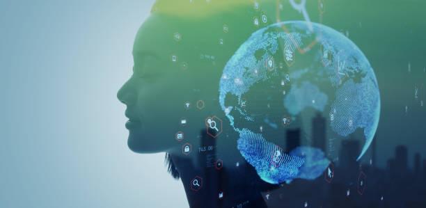 人工知能(人工知能)のコンセプト。グローバル通信ネットワーク。持続可能な開発目標。sdgs。 - sustainability ストックフォトと画像