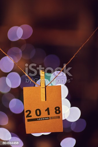 istock 2018 Concept greeting cards and Lights 864644458