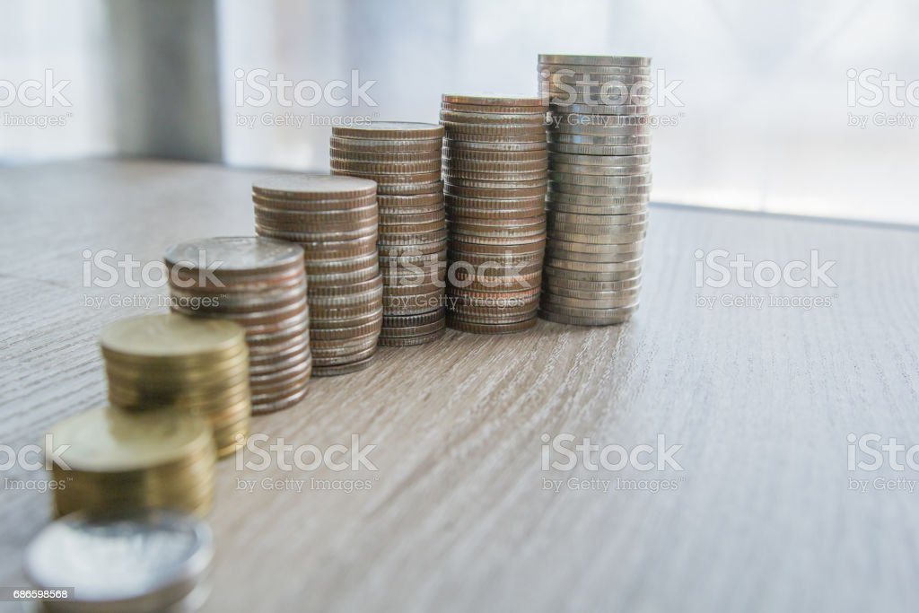 Concept growth investment and saving coin money financial royalty-free stock photo
