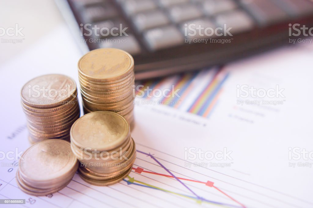 Concept growth investment and saving coin money financial stock photo