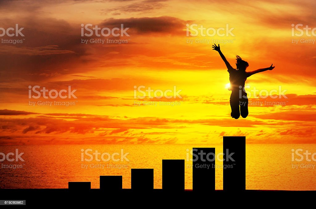 concept growth success. stock photo