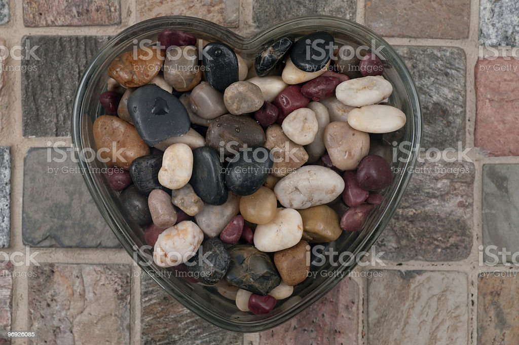 Concept: Heart of Stone royalty-free stock photo