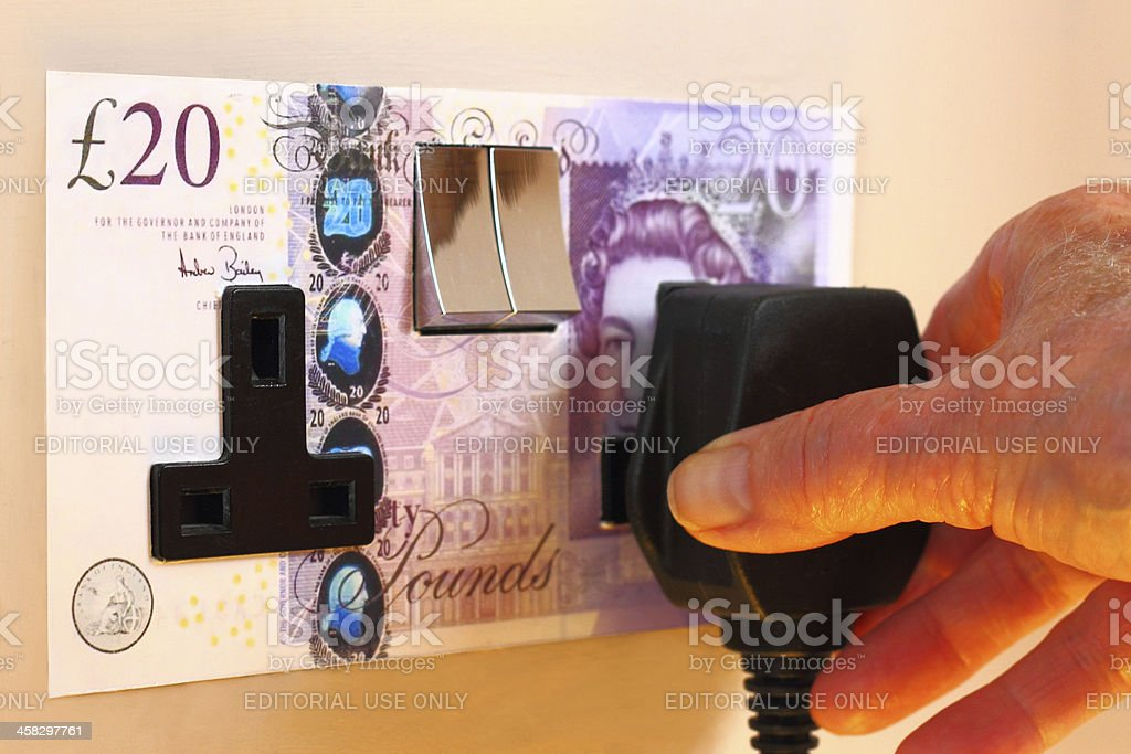 Concept: High Energy Prices royalty-free stock photo