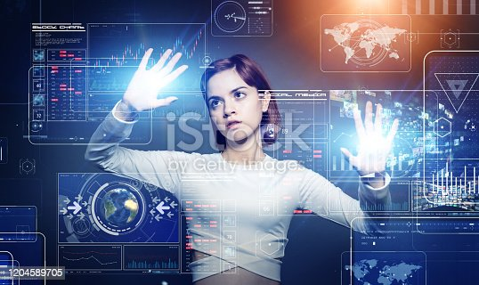 1154261846 istock photo GUI (Graphical User Interface) concept. HUD (Head up Display). 1204589705