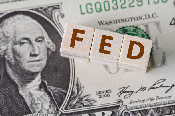 Concept idea of FED, federal reserve system is the central banking system of the united states of america and change interest rates Concept idea of FED, federal reserve system is the central banking system of the united states of America and change interest rates The Federal Reserve stock pictures, royalty-free photos & images