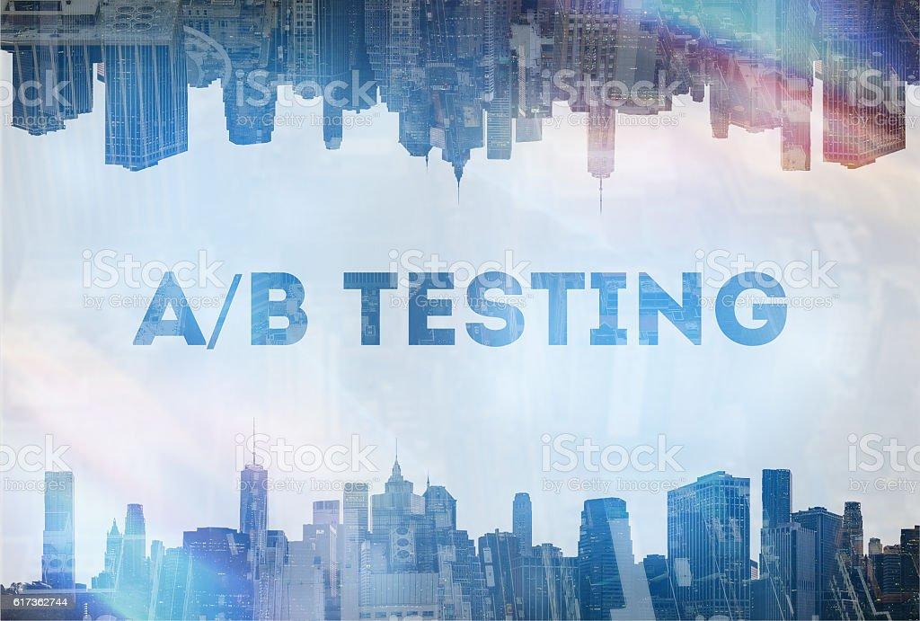 Concept image A/B testing - foto de stock