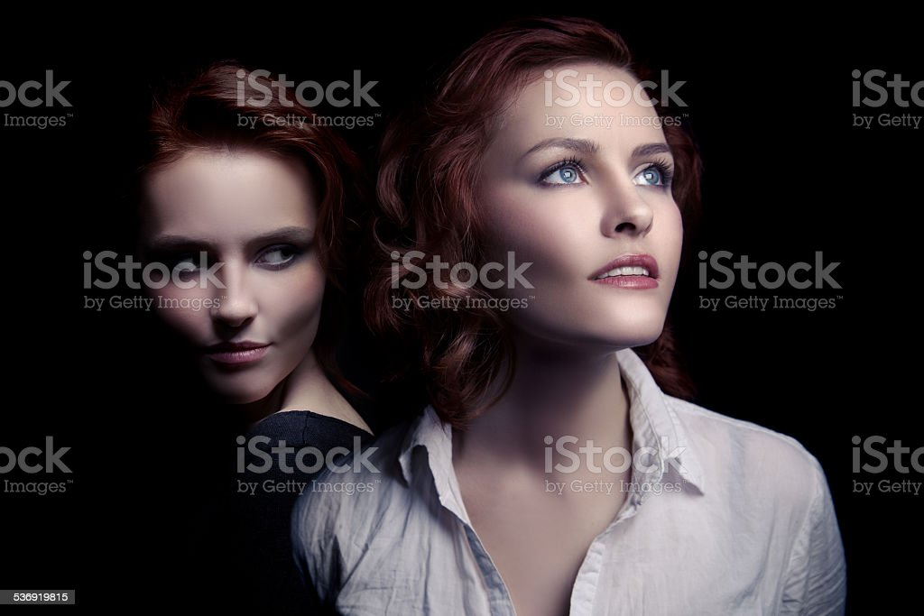 Concept Image. Another Side Of Human. stock photo