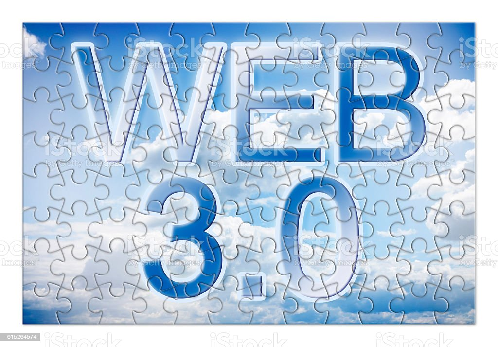 WEB 3.0 - concept image in puzzle shape stock photo