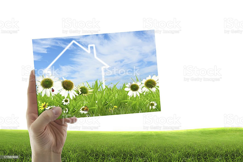 Concept image of a dream house stock photo
