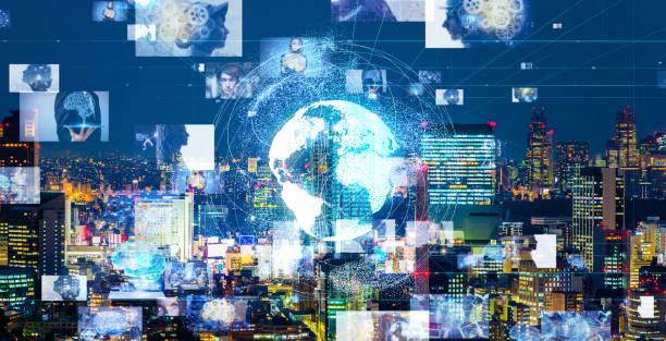 ai (artificiell intelligens) koncept. bildigenkänning. - jorden nyheter bildbanksfoton och bilder