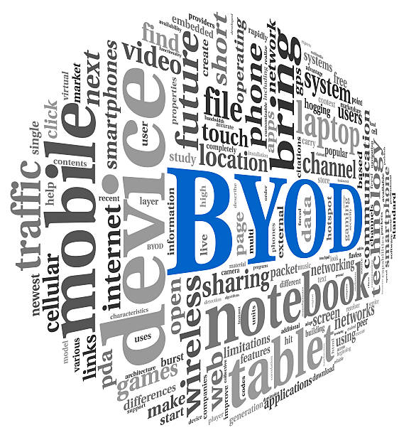 BYOD concept in tag cloud stock photo