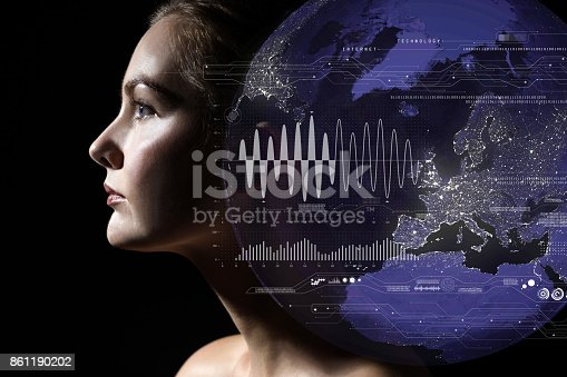 851956174istockphoto AI(Artificial Intelligence) concept. Internet of Things and big data. 861190202