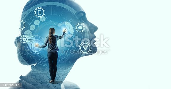 istock AI (Artificial intelligence) concept. IoT (Internet of Things). 1127450171