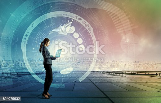 istock ICT(Information Communication Technology) concept. IoT(Internet of Things). Smart City. Digital Transportation. mixed media abstract. 824079932