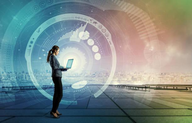 ict(information communication technology) concept. iot(internet of things). smart city. digital transportation. mixed media abstract. - człowiek maszyna zdjęcia i obrazy z banku zdjęć