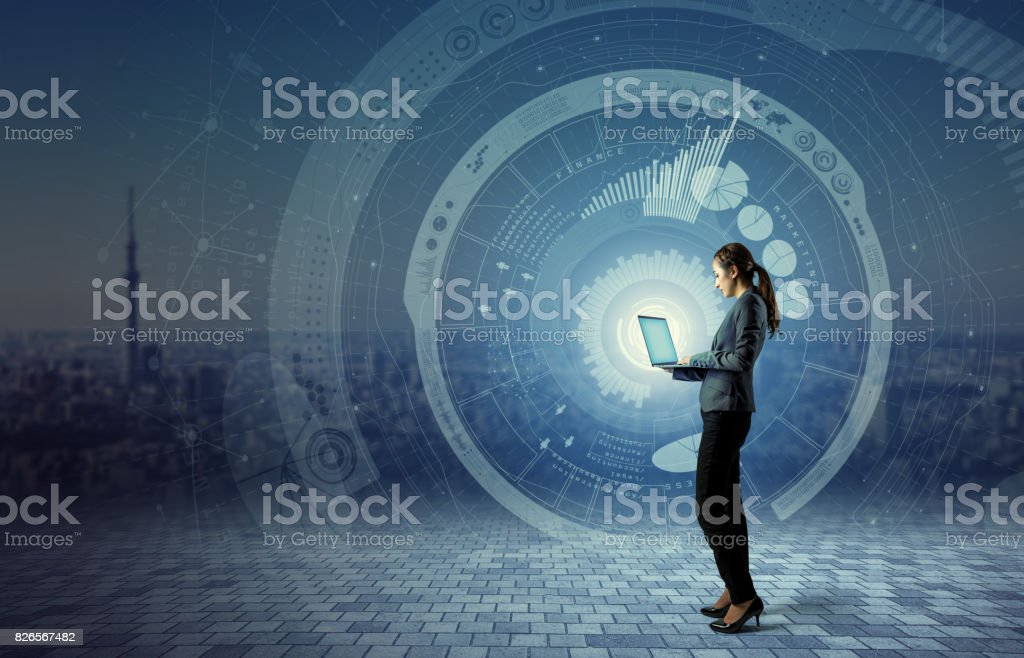 IKT (Informations-und Kommunikationstechnologie) Konzept. IoT (Internet der Dinge). Smart-City. Digitalen Transport. Mixed-Media abstrakt. – Foto