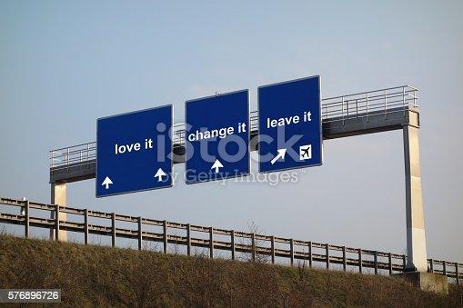 istock concept - love it, change it, leave it 576896726