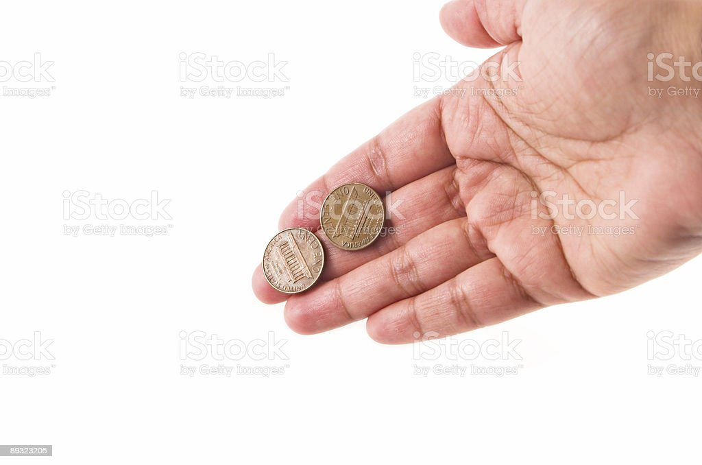 Concept: My (your) two cents worth... stock photo