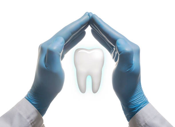 Concept of a healthy tooths. stock photo