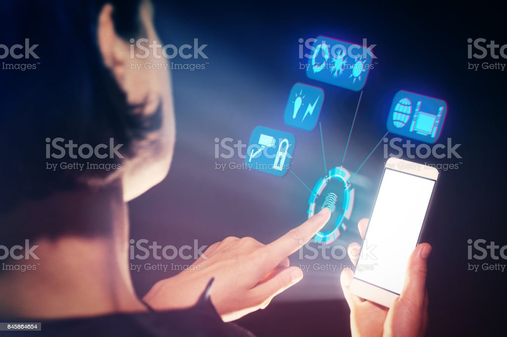 Concept of a smart house stock photo