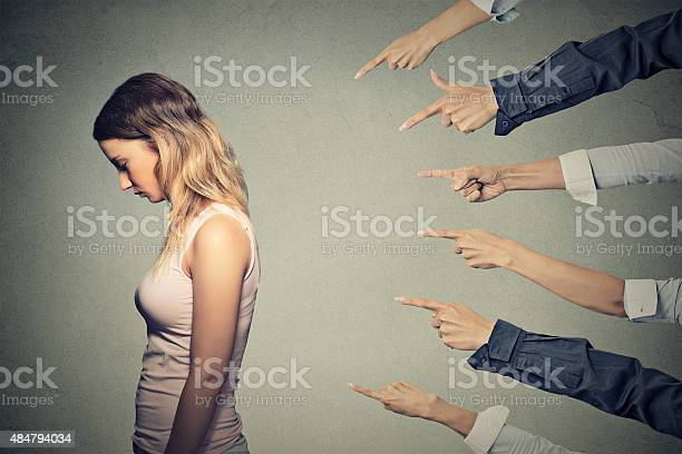 Concept Of Accusation Guilty Person Girl Stock Photo - Download Image Now