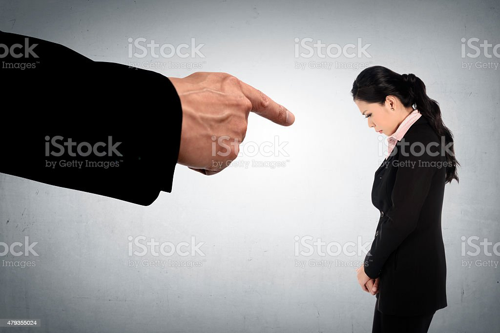Concept Of Accused Business Woman stock photo