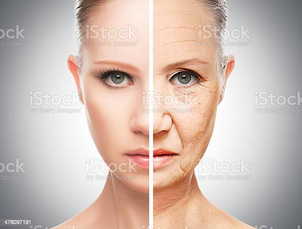 Concept Of Aging And Skin Care Stock Photo - Download Image Now