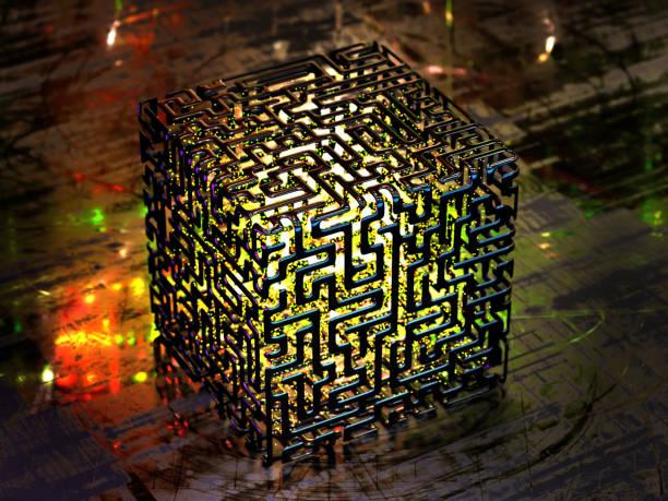konzept einer abstrakten quantencomputer - quant stock-fotos und bilder