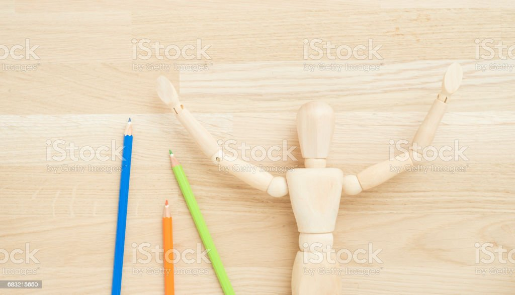 Concept of art supplies, creativity and education 免版稅 stock photo