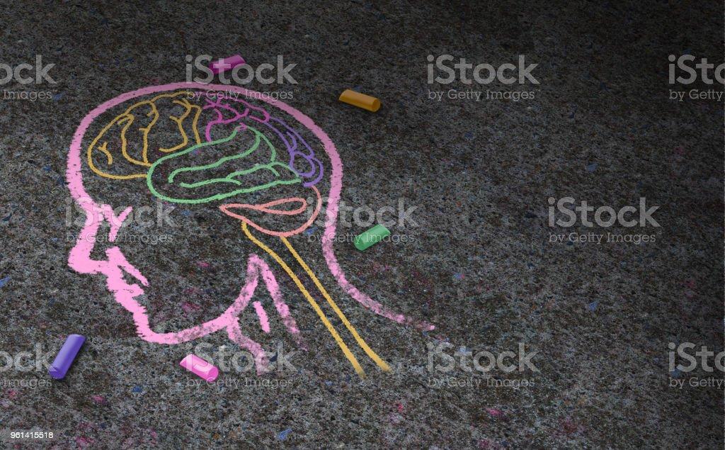 Concepto de autismo - foto de stock