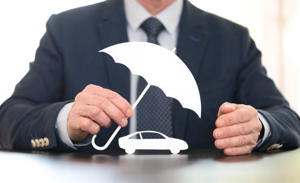 Concept of auto coverage stock photo