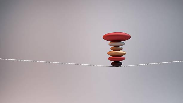 concepto de equilibrio y estabilidad - alambre fotografías e imágenes de stock
