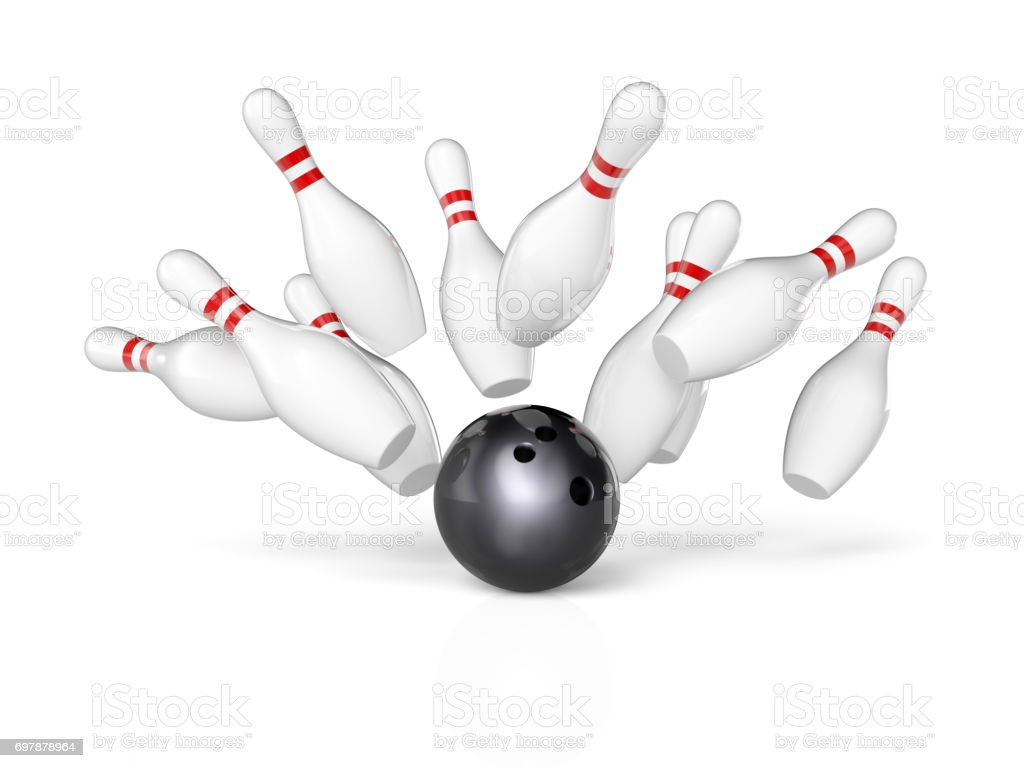 concept of bowling - foto stock