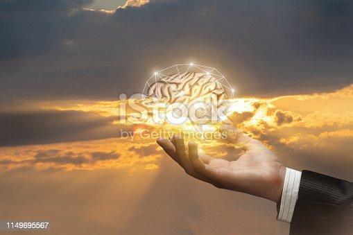 istock Concept of brainstorming and ideas in business. 1149695567