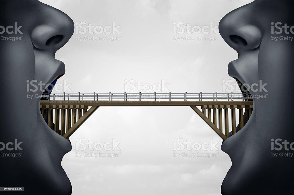 Concept of Building Bridges stock photo
