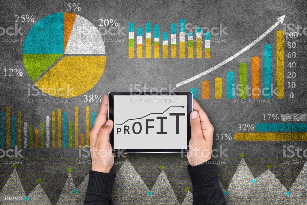 Concept of business profit stock photo
