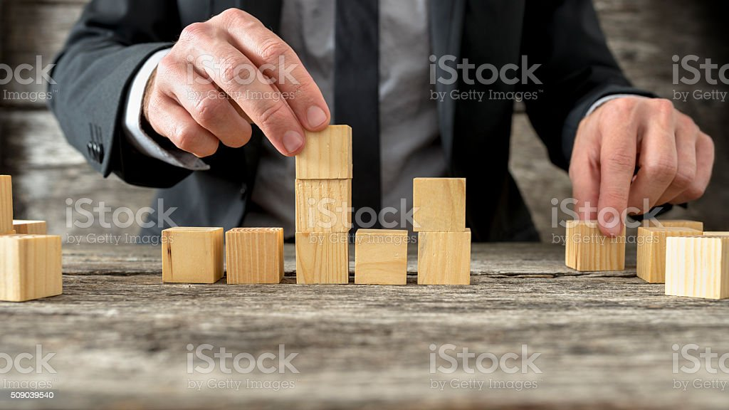Concept of business strategy and planning stock photo