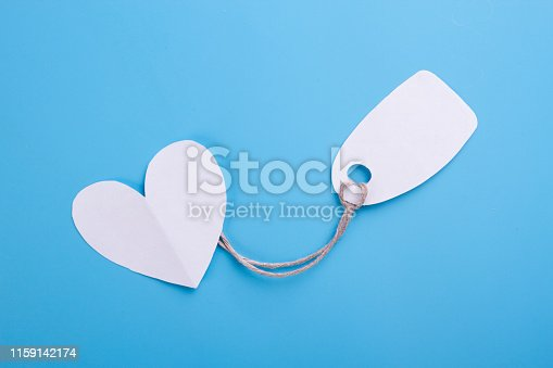 concept of buying love. blue background