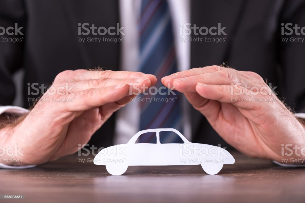 Concept of car insurance stock photo