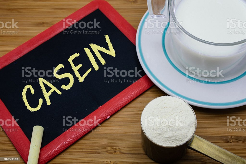 Concept of Casein in milk stock photo