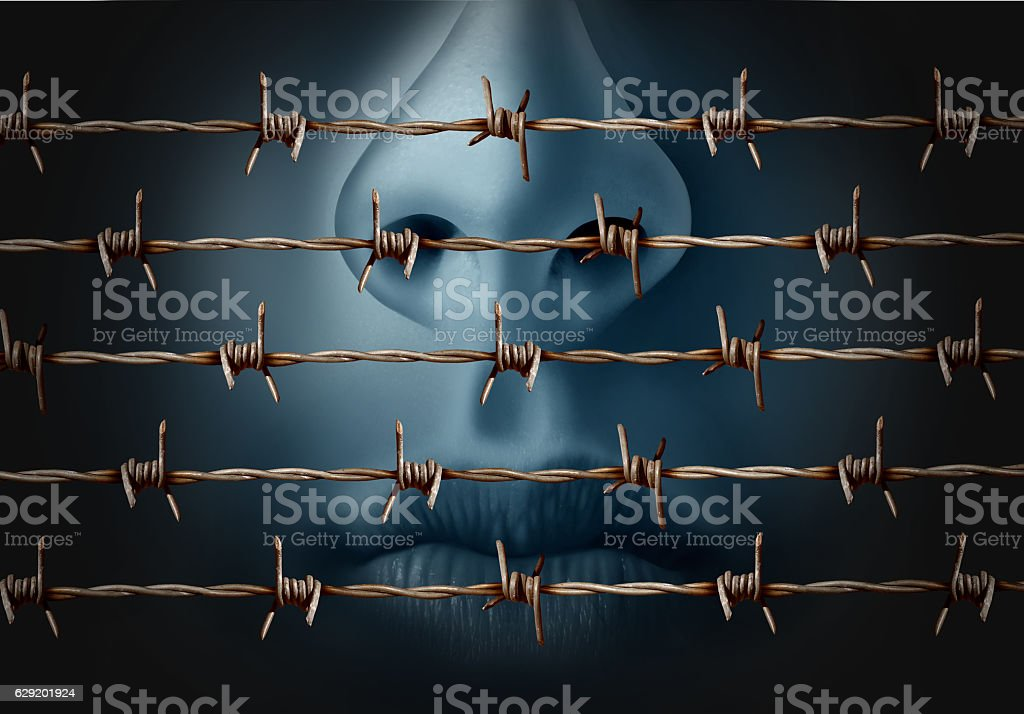 Concept Of Censorship stock photo