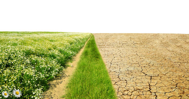Concept of change climate or global warming. stock photo