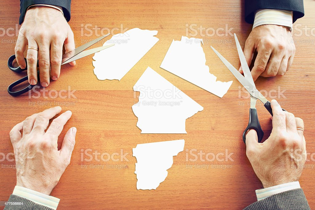 Concept of change the political conditions in Africa stock photo