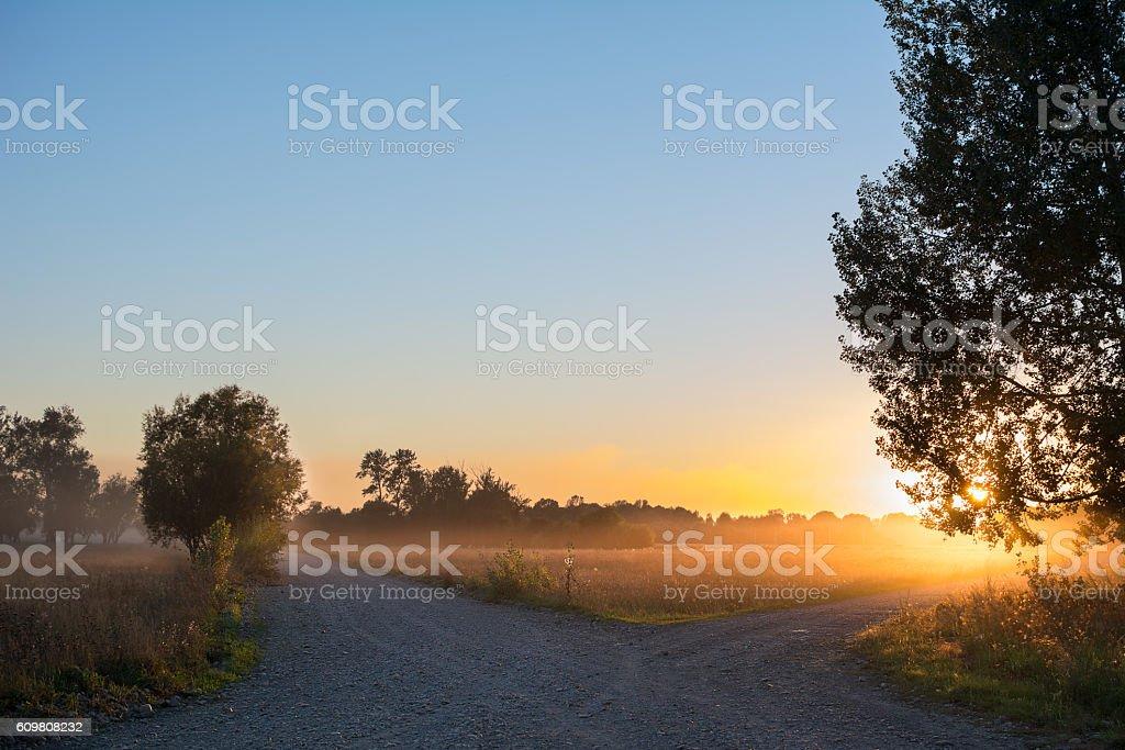Concept of choice the correct way - Lizenzfrei Abschied Stock-Foto